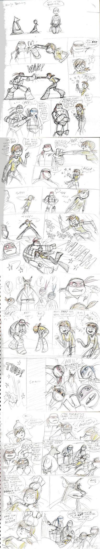 TMNT 2012-April's Ninja Training by queenbean3