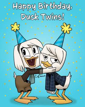 Happy Birthday, Duck Twins!