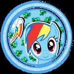 Rainbow Dash sweet button