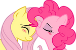Fluttershy and Pinkie Pie: sweet kiss