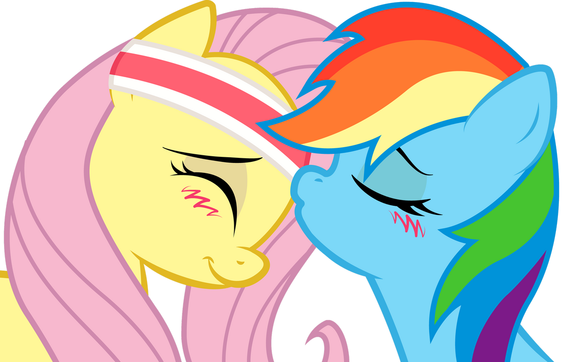 Dash and Fluttershy: sweet kiss by KennyKlent on DeviantArt
