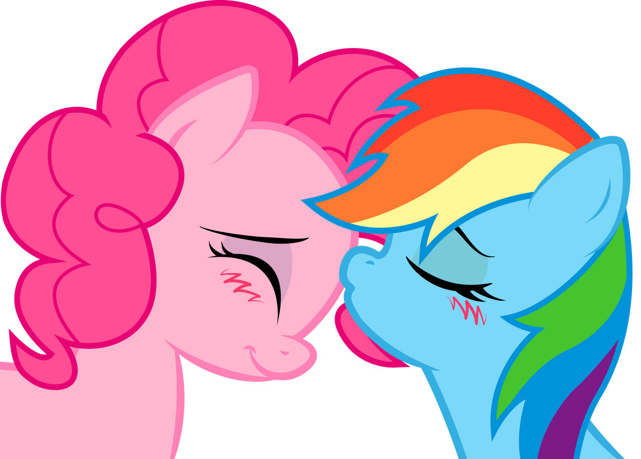 Rainbow Dash and Pinkie: sweet kiss by KennyKlent on ...