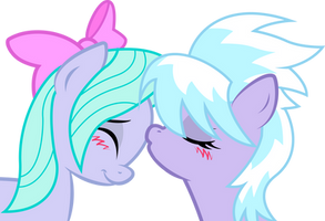Cloudchaser and Flitter: sweet kiss by KennyKlent