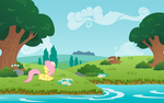 A beautiful day and Fluttershy