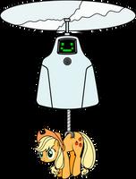 Jailbot and applejack by KennyKlent