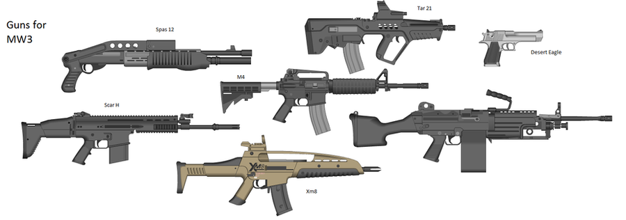 Guns I Want In Mw3 By Fangthedragonwolf4