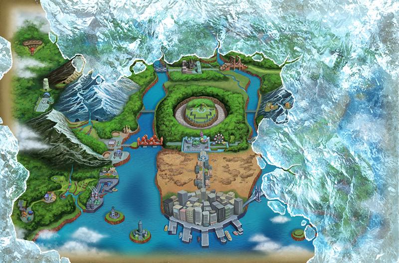 Pokemon Black 2/White 2 Unova Region by Voiaman