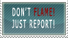 Don't Flame Stamp by FrightFox