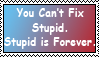Stupid Stamp by FrightFox