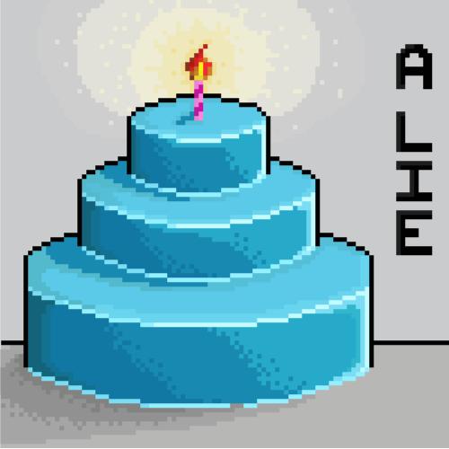 The pixel cake is a lie by Korikian on DeviantArt