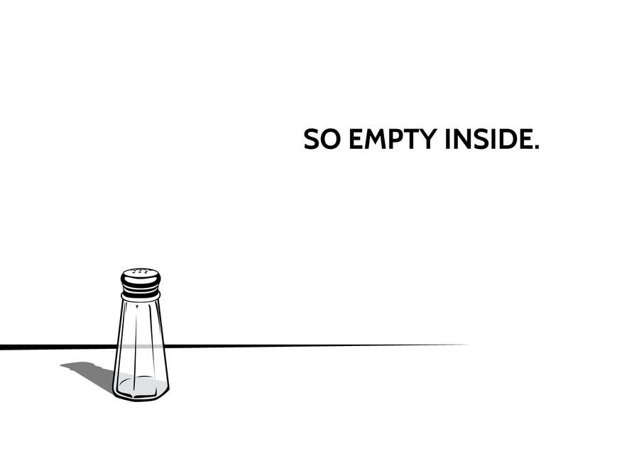 Empty salt desktop background by Korikian