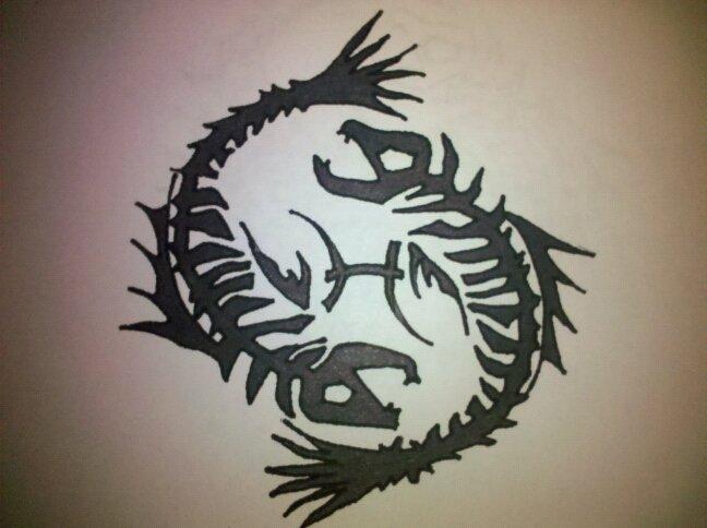 tribal pisces fish by inkdforlife on deviantart. Black Bedroom Furniture Sets. Home Design Ideas