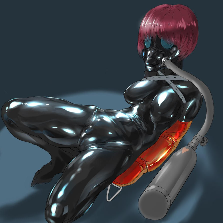 Rubber slave that is forced to suck aphrodisiac by Tiasti