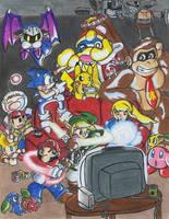 Super Smash Bros Brawl Party by ribbledude