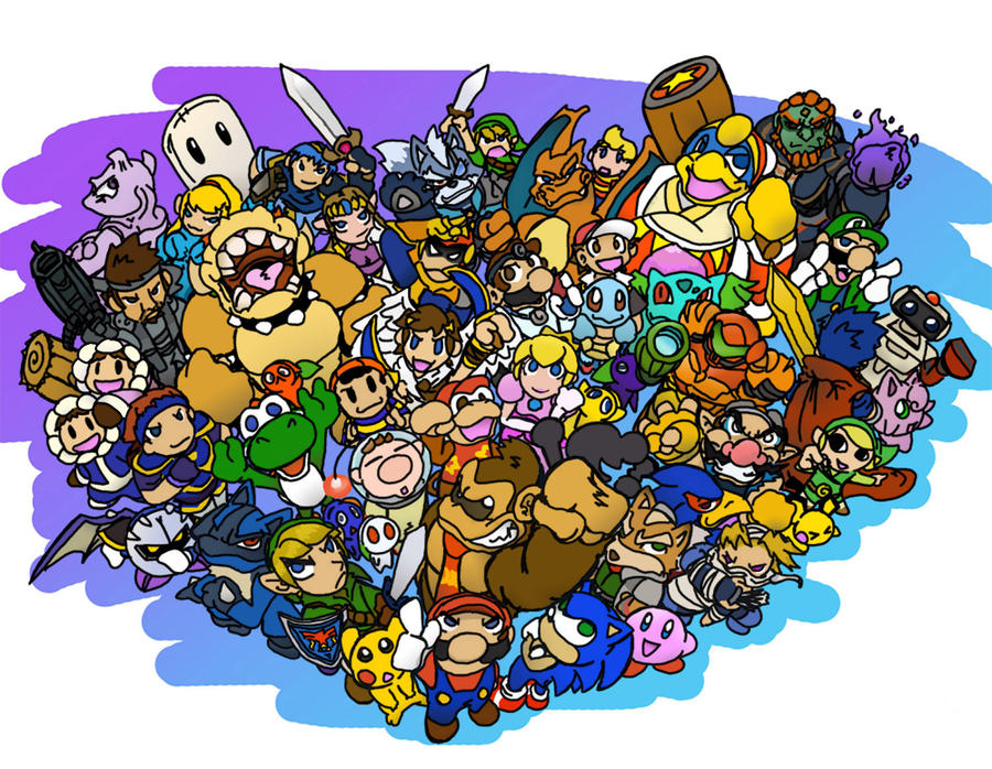 Colorful Super Smash Bros Wii U Coloring Pages Pictures - Example ...