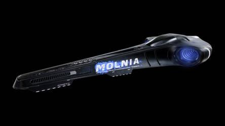 Futuristic racing car - Molnia