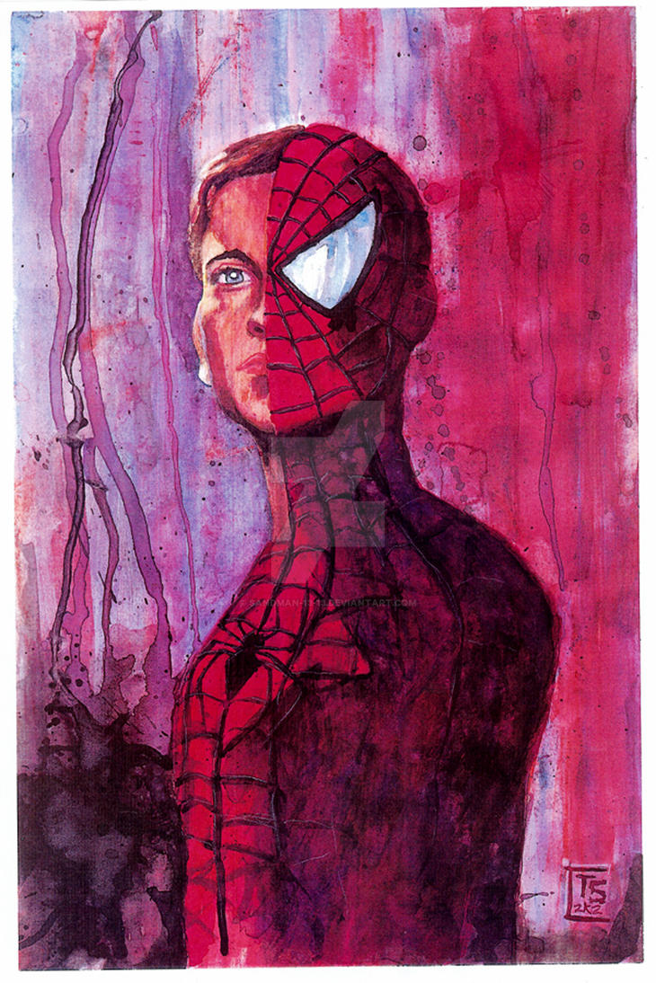 Spiderman Acrylic Paintings