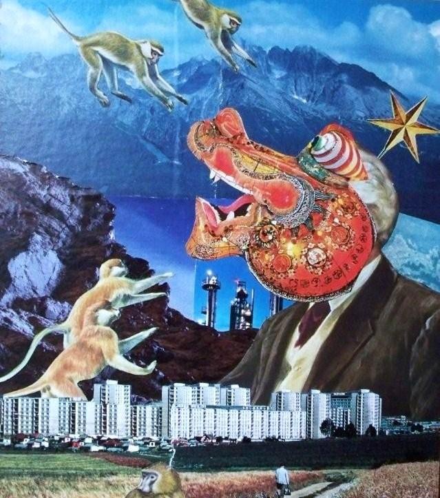 monkeys vs. dragon by dreamofsammy