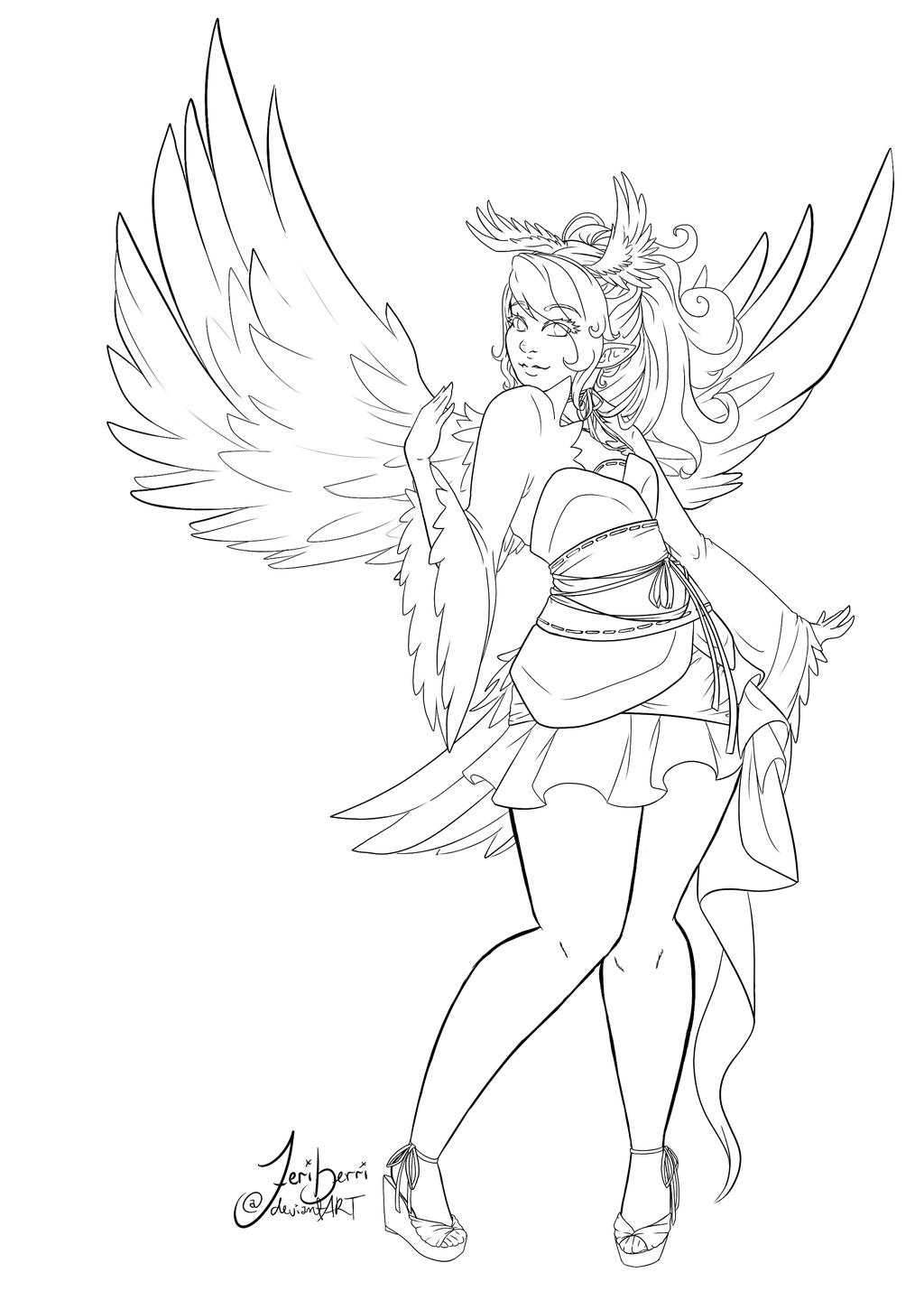Line Drawing Dove : The dove shima lineart by feriberri on deviantart