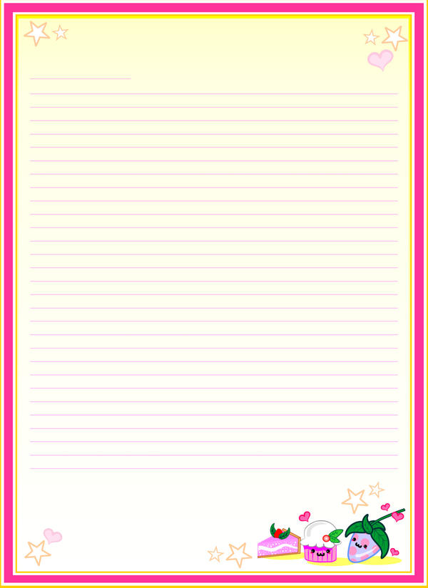 Girly Note Paper by bandeau on DeviantArt