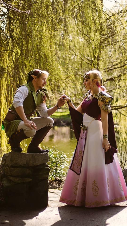 Link and Zelda by bandeau