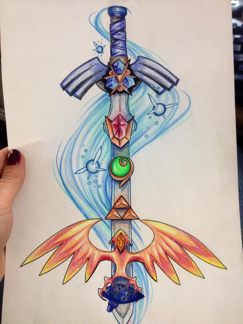 Legend of Zelda arm tattoo by bandeau