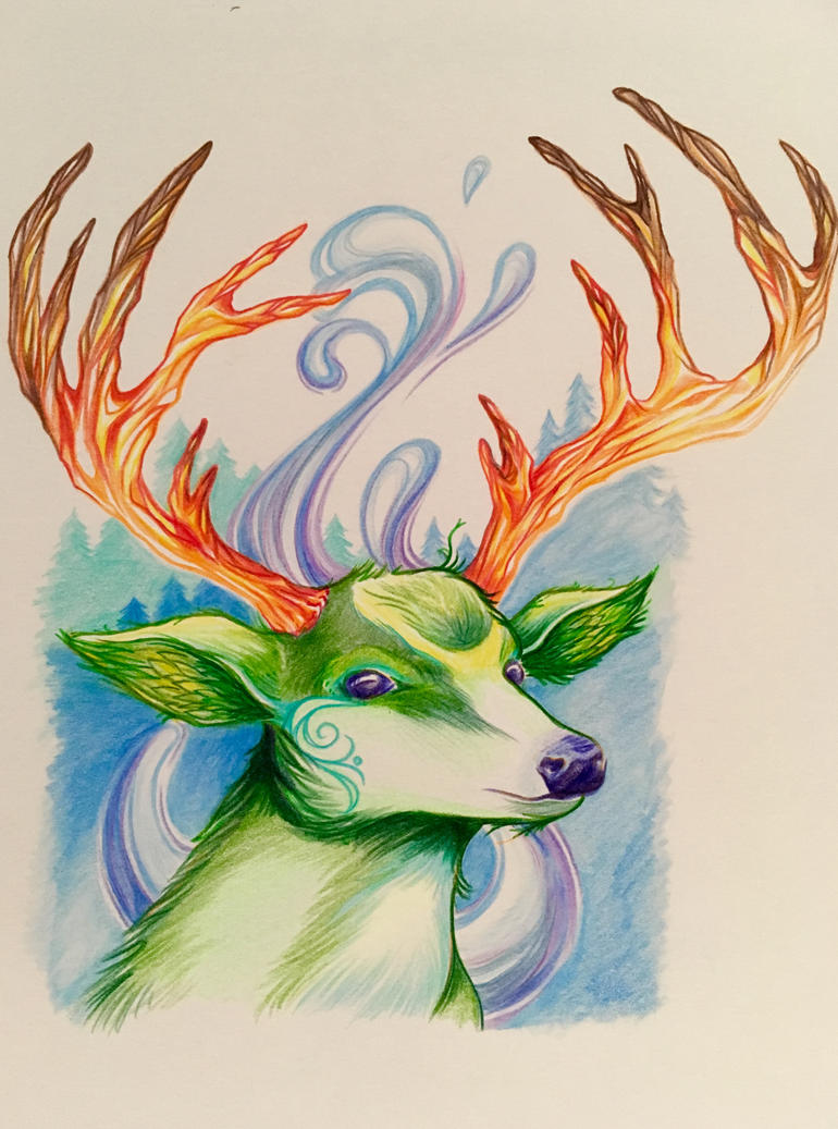Colourful Deer by bandeau