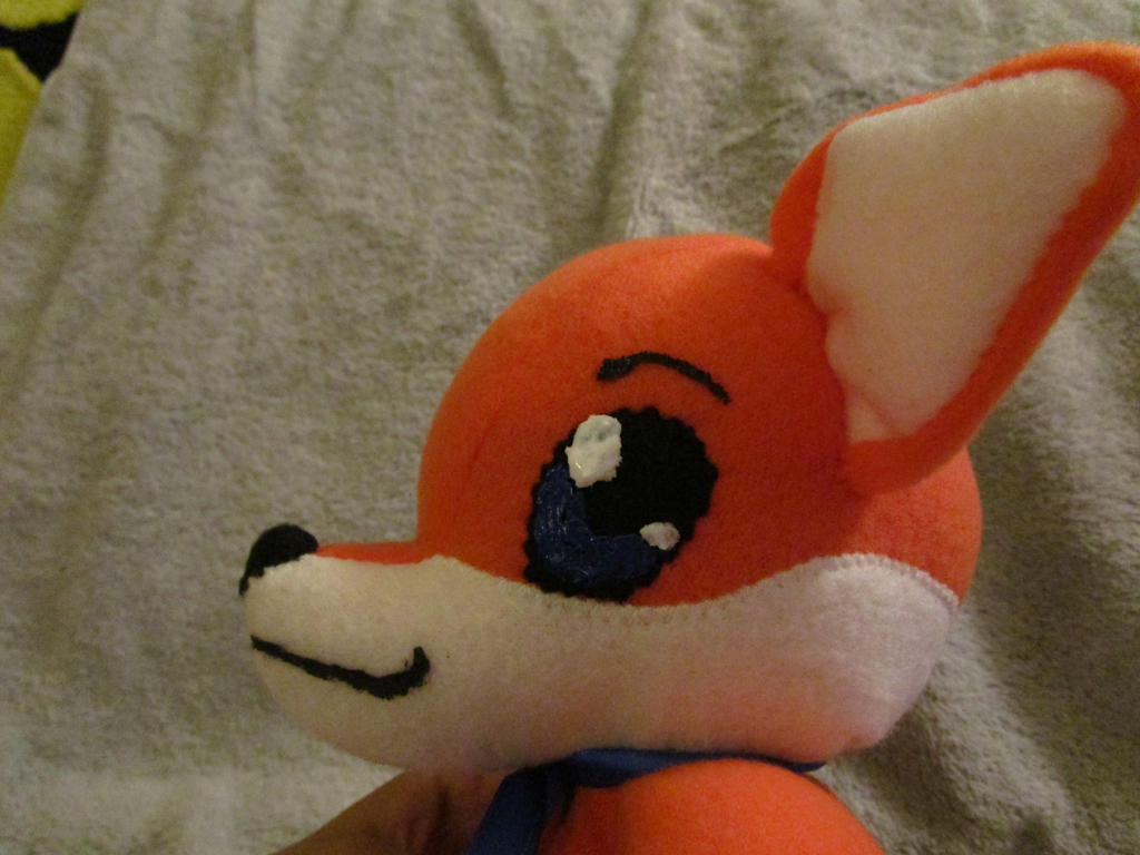 Fox babytoy commission head closeup side 1 by kaistermaister