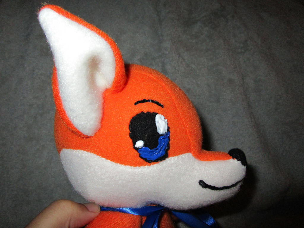 Fox babytoy commission head closeup side 2 by kaistermaister