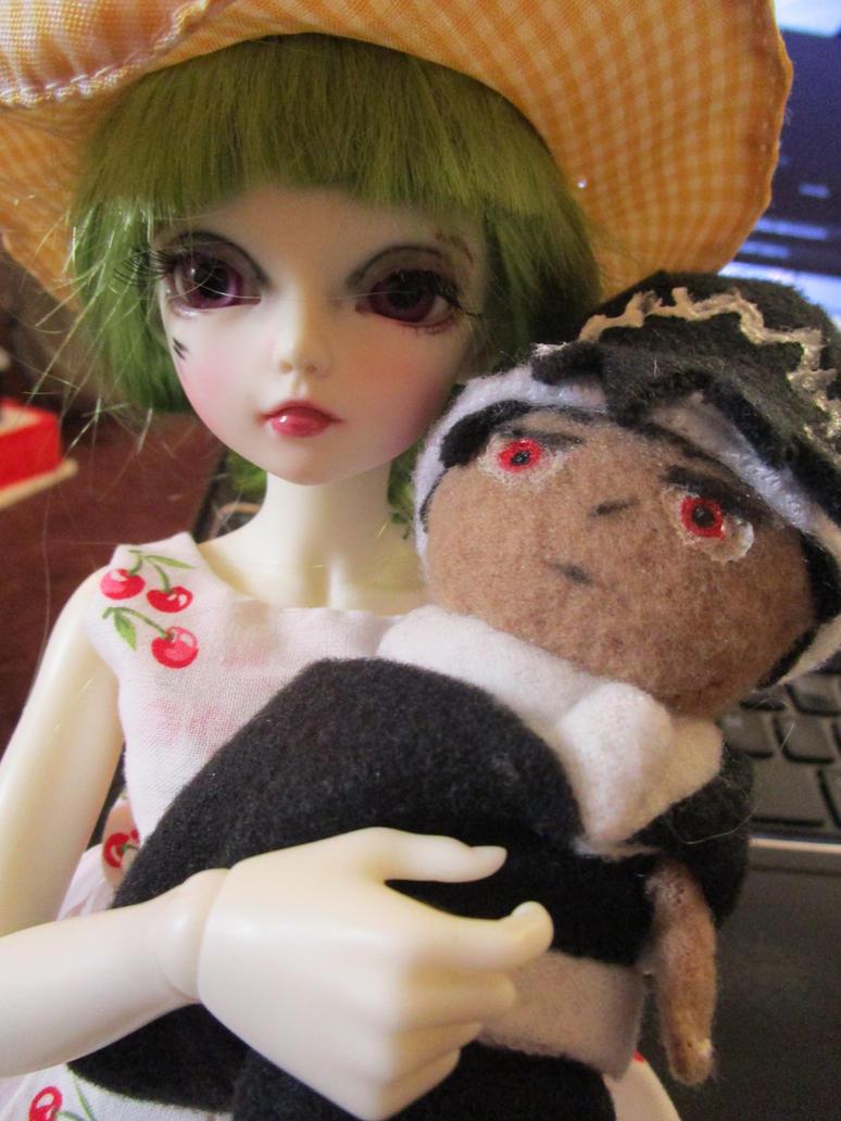 TIny Hiei plush 5 and Fia by kaistermaister