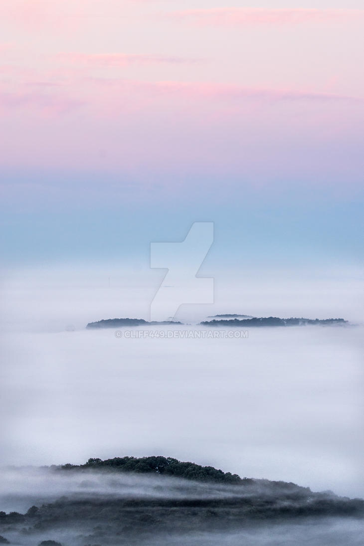 Misty morning in Malvern Hills by cliff449