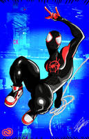 Miles Morales as Spiderman by ftzone1