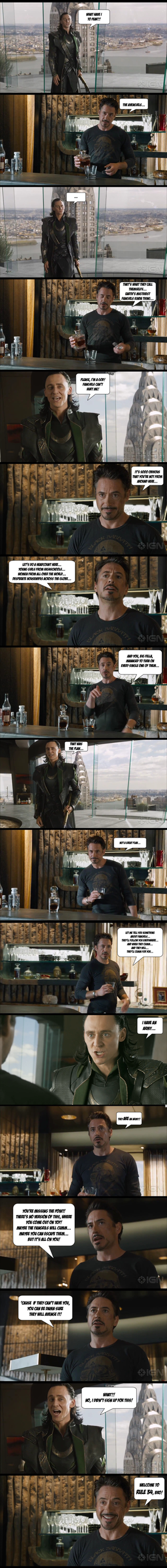 Avengers: Loki vs Tony Stark and The Avengirls by yourparodies