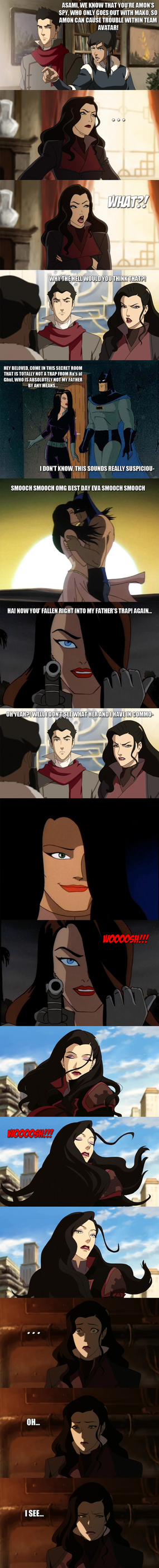 Legend of Korra - Asami, the spy... by yourparodies