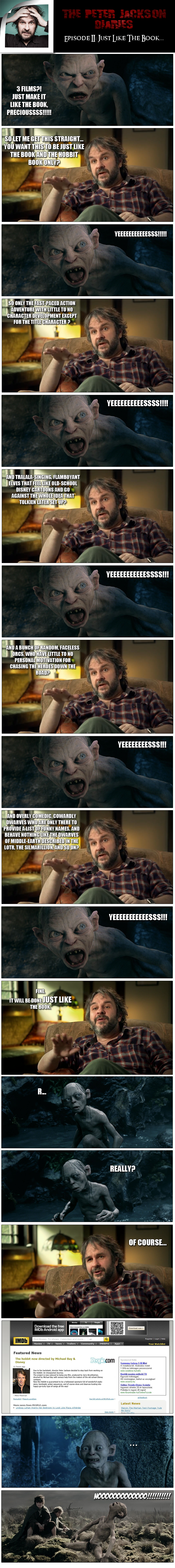 The Peter Jackson Diaries II: Just like the book   by