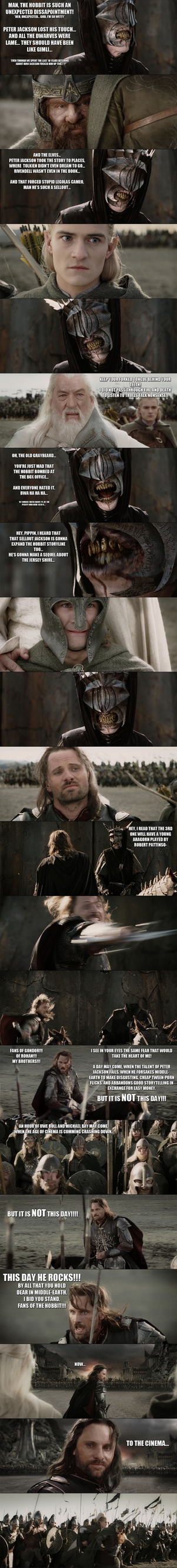 The Hobbit - Aragorn vs the Troll of Sauron... by yourparodies
