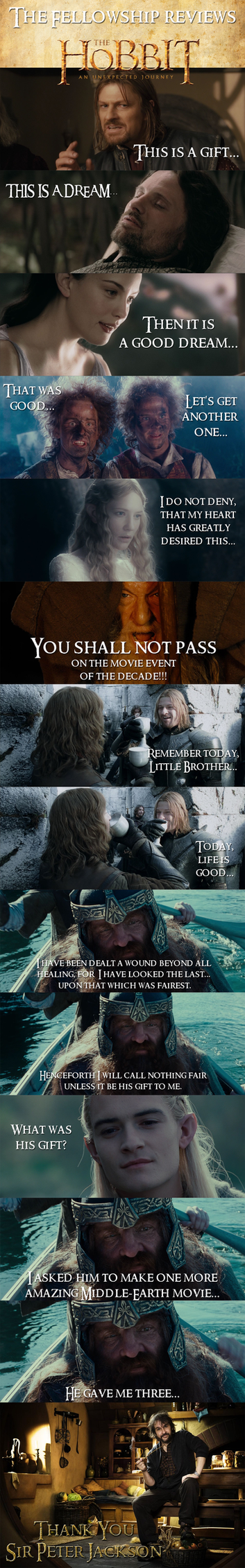 LOTR - The Fellowship Reviews The Hobbit by yourparodies