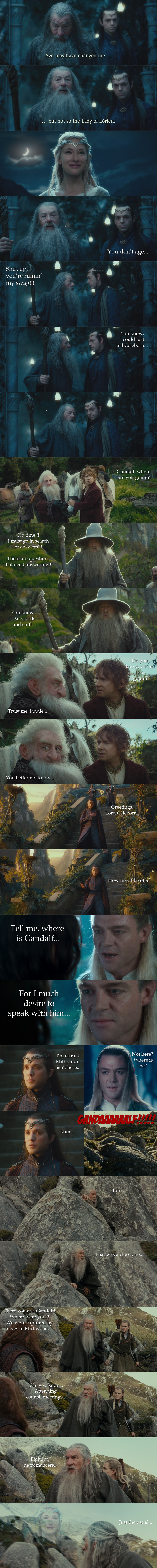 The Hobbit - The many adventures of Gandalf... by yourparodies