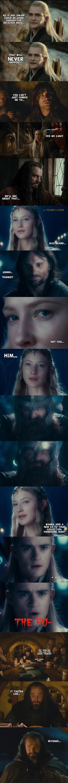 Hobibt Week - Of elves and dwarves I (spoilers) by yourparodies