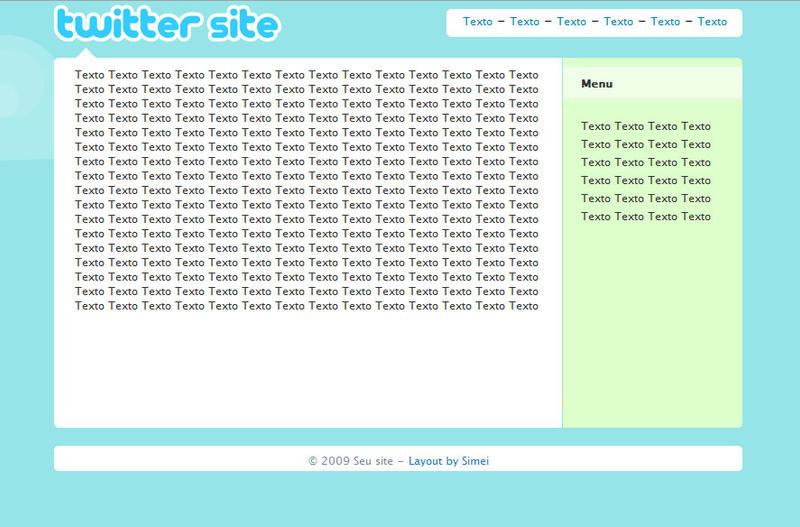 Template Twitter profile by bysimei on DeviantArt