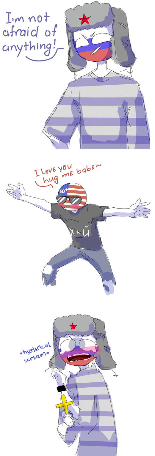 shitpost [Countryhumans] russia, usa by LuluDig on DeviantArt