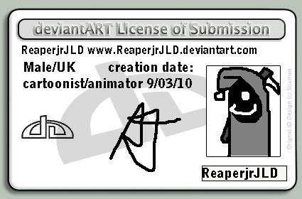 Reaper jr's licence by reaperjrJLD