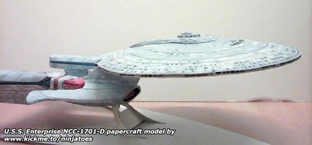 Enterprise-D papercraft by ninjatoespapercraft