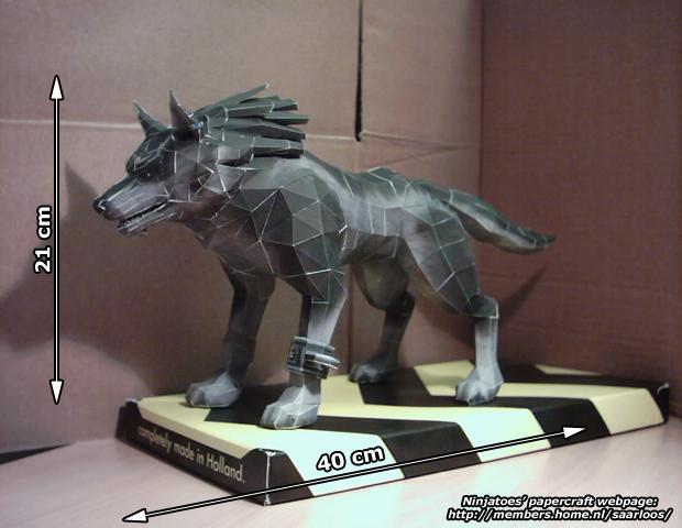 Twilight Princess Wolf Link by ninjatoespapercraft