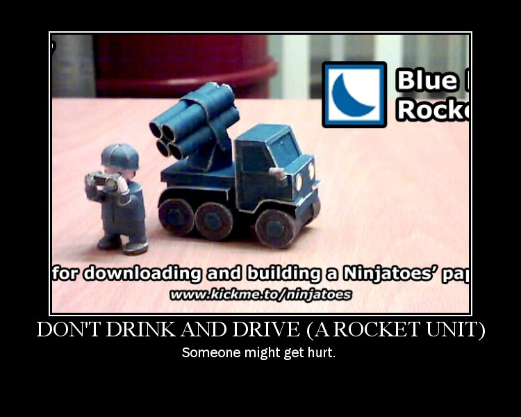 BM Rockets motivational poster by ninjatoespapercraft