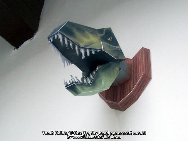 T-Rex Trophy head papercraft by ninjatoespapercraft