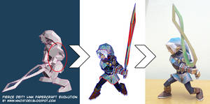 Oni Link papercraft evolution