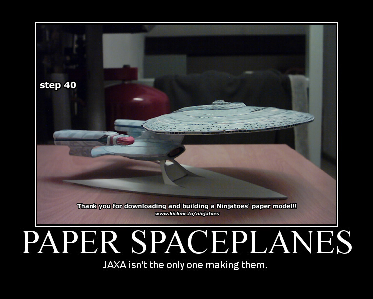 paper JAXA Enterprise-D by ninjatoespapercraft