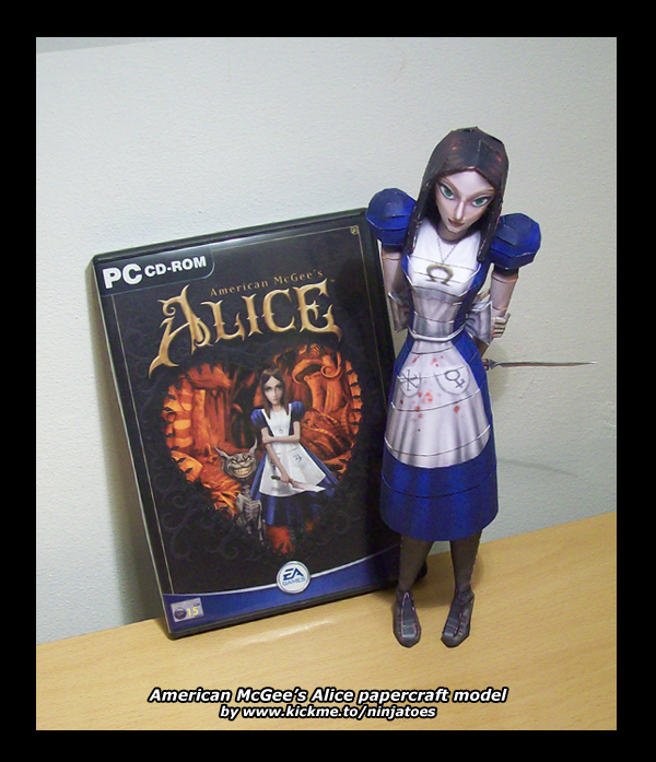 Alice papercraft by ninjatoes by ninjatoespapercraft