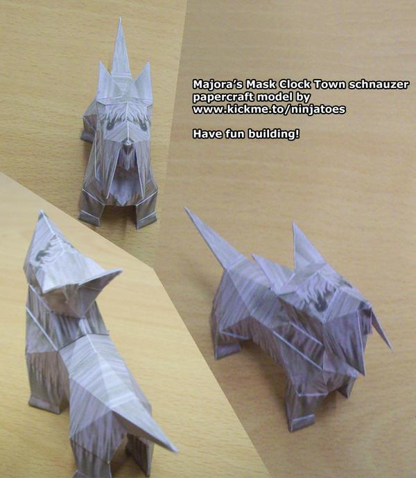 Majora's schnauzer papercraft by ninjatoespapercraft
